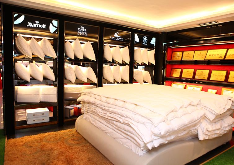 高档酒店床品展厅